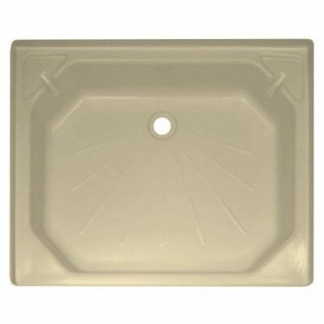 "Caravan/Motorhome PLASTIC SHOWER TRAY 24"" X 30"" SOFT CREAM"